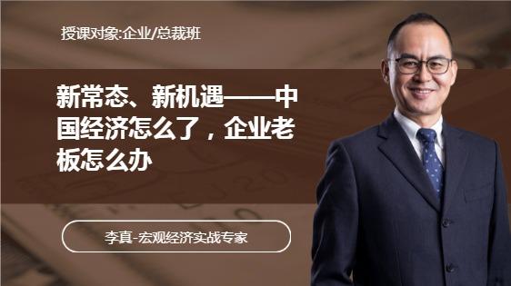 《中国经济怎么了,企业老板怎么办——新常态、新机遇》